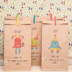 Personalised Mini Monsters Party Bag - halloween ideas