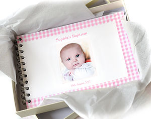 Personalised Christening Book - christening gifts