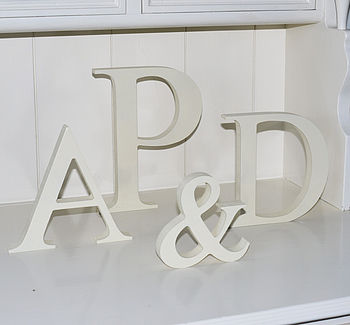 Personalised Wooden Wedding Letters