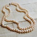 Vintage Style Double Strand Pearl Necklace