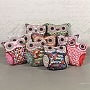 Thumb vintage inspired mini owl cushion