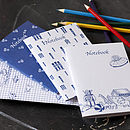 Boy's Pack of Four Notebooks
