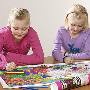 Colour In Fairy Poster Kit And Pens