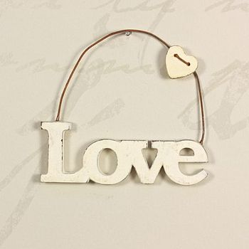 Hanging Cut Out 'Love' Sign