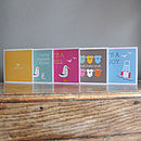 Mixed Pack Of Four Baby Greeting Cards
