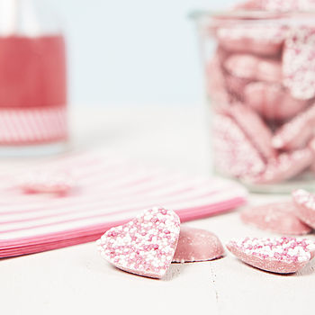 Mother's Day Pink Chocolate Hearts