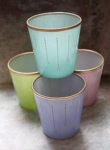 Pastel Glass Votive - votives & tea light holders