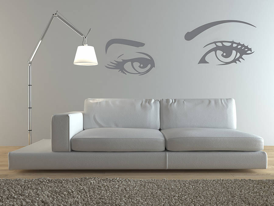 eyes wall stickers by zazous notonthehighstreet com twiggy wall sticker by zazous notonthehighstreet com