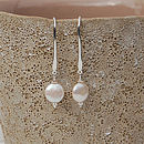 Coin Pearl And Silver Drop Earrings