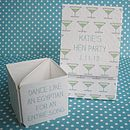 Personalised Hen Party Dares Popping Cards