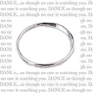 Sentimental Silver Plated Message Bangle - women's jewellery