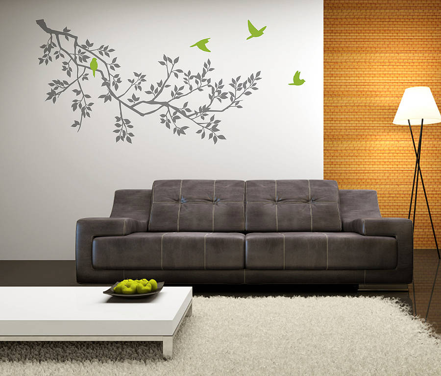 Superb Wall Stickers: Spring Branches Grey Part 23