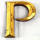 Vintage Gold Leaf Display Letters