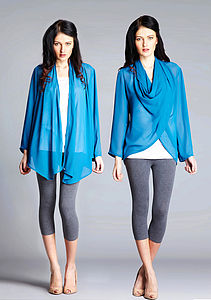 Multiway Chiffon Wrap Top - luxury fashion