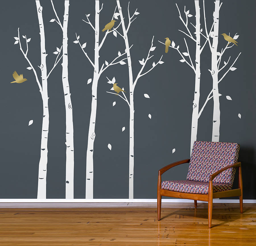 urban forest white wall stickers by zazous. Black Bedroom Furniture Sets. Home Design Ideas