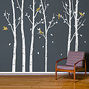 Urban Forest White Wall Stickers