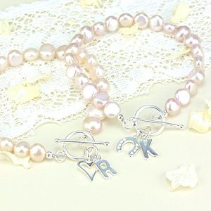 Personalised Nugget Pearl Bracelet - wedding jewellery