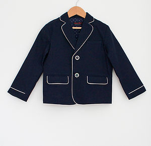 Boy's Blazer With Dotty Lining - children's clothing