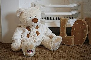 Sitting Teddy Bear - soft toys & dolls