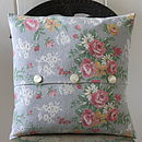 Handmade Floral Vintage Fabric Cushion