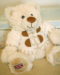 Baby Sitting Union Jack Teddy Bear