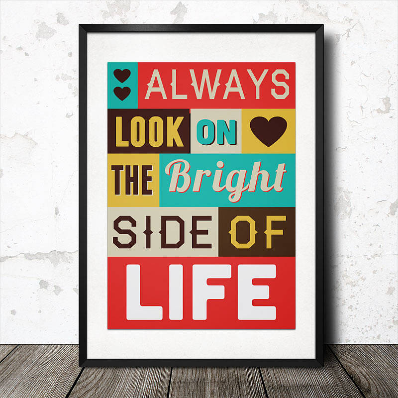 Life Quotes Posters Magnificent Personalised Inspirational Quote Art Postermagik Moments