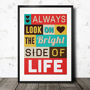 Personalised Inspirational Quote Art Poster