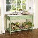 Distressed Green Sideboard With Drawers