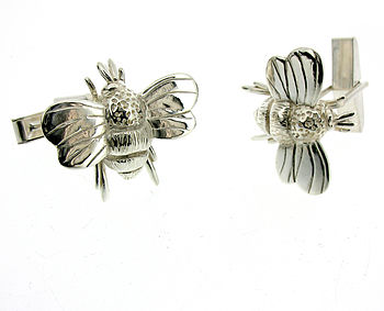 Sterling Silver Or Gold Bumble Bee Cufflinks