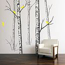 Wall Stickers: Birch Forest Grey