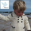 Kids Knitted Sailor Cardigan