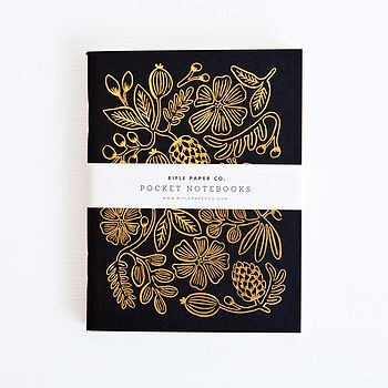Set Of Two Foil Pocket Notebooks