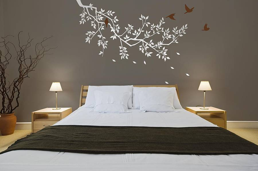 wall stickers spring branches white by zazous trailing blossom wall sticker by zazous