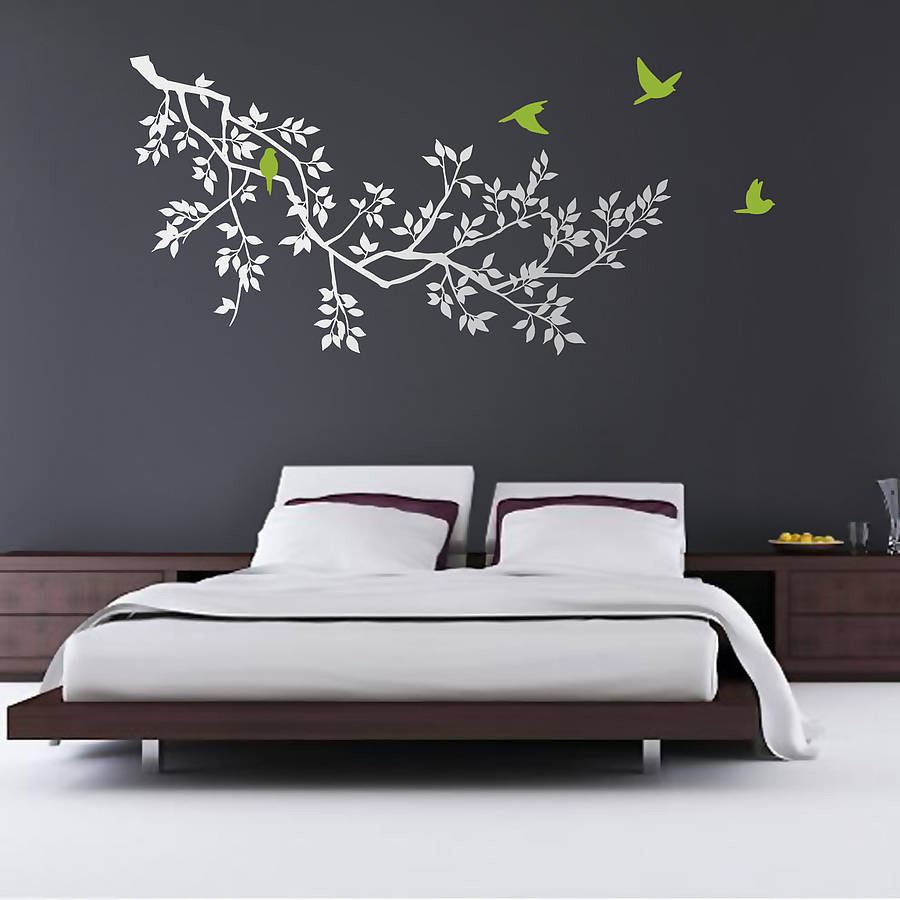 Wall stickers spring branches white by zazous Wall stickers for bedrooms