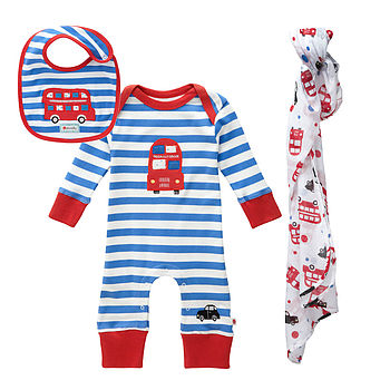 London Bus Baby Gift Set