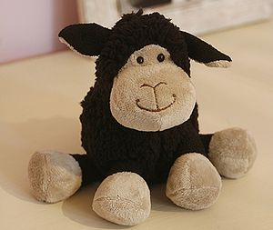 Small Black Sitting Sheep - soft toys & dolls