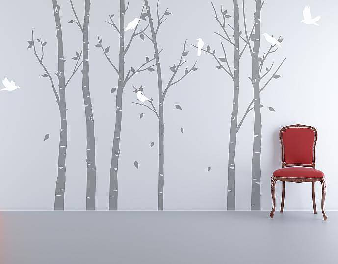 Wall stickers urban forest grey