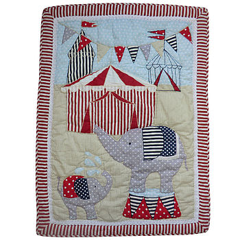 Embroidered Circus Blanket