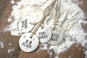 Porcelain Baking Label - gifts for bakers