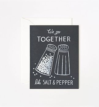 Salt And Pepper Foil Print Card