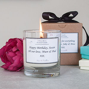 Personalised Scented Candle - birthday gifts