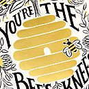 Bees Knees Foil Print Card