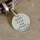 Personalised 'Keep Calm' Brass Dog ID Tag