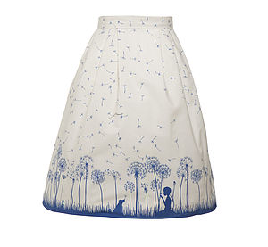Elspeth Skirt Make A Wish Cream/Blue - skirts & shorts