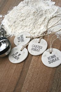 Personalised Porcelain Baking Label - kitchen