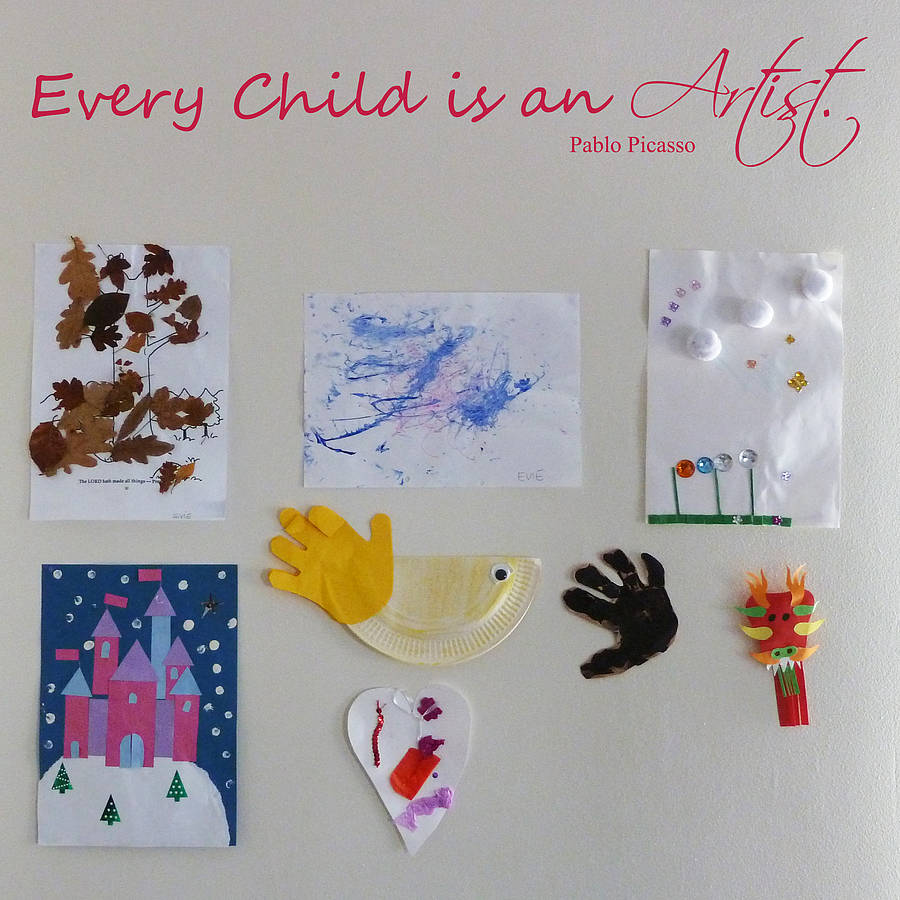 every child is an artist wall sticker by nutmeg