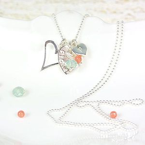 Personalised Silver Hearts Charm Necklace - necklaces & pendants