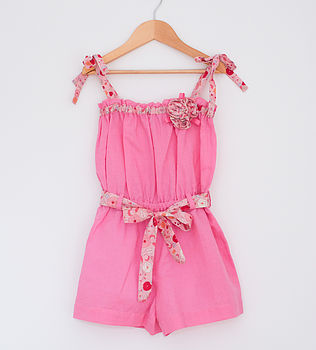 Girl's Corsage Playsuit