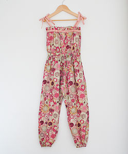 Girl's Floral Playsuit - trousers & leggings
