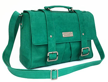 Emerald Leather Cross Body Satchel